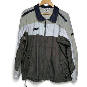 Columbia Nylon Packable Full Zip Track Jacket